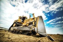 Máquina resistente da construção rodoviária - veículo Asfalto quente que é l Fotos de Stock Royalty Free