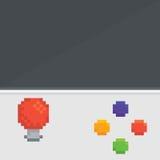 Máquina retra de la arcada del arte del pixel con vector de la palanca de mando Foto de archivo libre de regalías