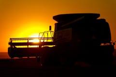 Máquina segador del trigo Foto de archivo libre de regalías