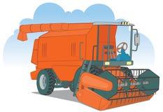 Máquina segador roja Imagen de archivo libre de regalías