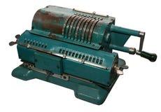 Máquina sumadora aislada de la vendimia Foto de archivo