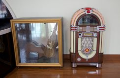 Máquina tocadiscos en Gibson Guitar Factory Memphis, Tennessee Fotografía de archivo