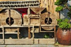 Máquina tradicional chinesa da grão da luta Foto de Stock Royalty Free