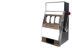 Máquina tragaperras aislada en el fondo blanco Imágenes de archivo libres de regalías
