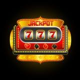 Máquina tragaperras del casino Fotos de archivo libres de regalías