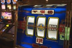 Máquina tragaperras en Las Vegas Fotos de archivo libres de regalías