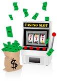 máquina tragaperras y dinero stock de ilustración