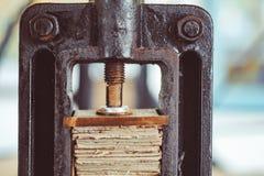Máquina velha da imprensa foto de stock royalty free