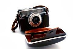 Máquina vieja de la foto con la cubierta Imagen de archivo libre de regalías