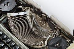 Máquina vieja de la máquina de escribir de la antigüedad del vintage Imagen de archivo libre de regalías