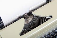 Máquina vieja de la máquina de escribir de la antigüedad del vintage Fotografía de archivo