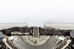 Máquina vieja de la máquina de escribir de la antigüedad del vintage Imagen de archivo