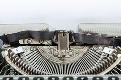 Máquina vieja de la máquina de escribir de la antigüedad del vintage Foto de archivo libre de regalías