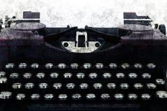 Máquina vieja de la máquina de escribir en estilo del grunge Imagen de archivo libre de regalías