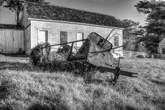 Máquina vieja del campo Foto de archivo libre de regalías
