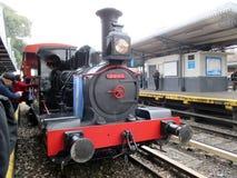 Máquina vieja del vapor en la estación de tren de Haedo Imágenes de archivo libres de regalías