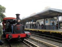 Máquina vieja del vapor en la estación de tren de Haedo Imagen de archivo