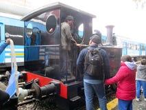 Máquina vieja del vapor en la estación de tren de Haedo Fotos de archivo libres de regalías