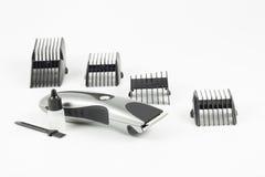 Máquina y clips del corte de pelo foto de archivo libre de regalías
