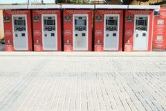 Máquinas automáticas para bilhetes a Hagia Sófia em Istambul Foto de Stock