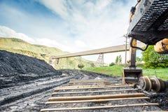 Máquinas, carvão e infraestrutura de mineração fotografia de stock royalty free