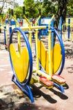 Máquinas coloridas del ejercicio Fotografía de archivo libre de regalías