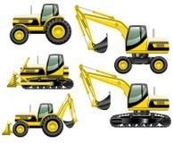 Máquinas da construção Foto de Stock