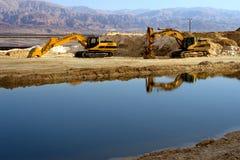 Máquinas da máquina escavadora imagens de stock royalty free