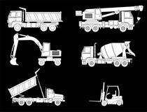Máquinas das construções Imagens de Stock