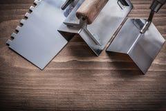 Máquinas de alisar o cepillar del ángulo y cuchillo de masilla de acero Fotos de archivo libres de regalías
