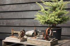 Máquinas de costura velhas Imagem de Stock
