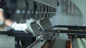 Máquinas de dobra do metal vídeos de arquivo