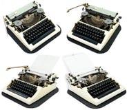 Máquinas de escribir antiguas en un blanco Imágenes de archivo libres de regalías