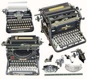 Máquinas de escribir retras del vector en fondo de la luz suave Foto de archivo libre de regalías