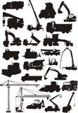 Máquinas de la construcción fijadas stock de ilustración