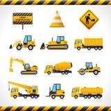 Máquinas de la construcción fijadas Foto de archivo libre de regalías