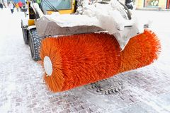Máquinas de la nieve del cepillo Imágenes de archivo libres de regalías