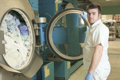 Máquinas de lavar industriais Fotografia de Stock Royalty Free