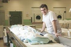 Máquinas de lavar industriais Fotografia de Stock