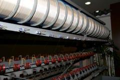 Máquinas de seda viejas en la fábrica china, Pekín Imagen de archivo libre de regalías