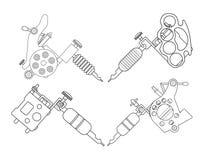 Máquinas de Tatto contorno Imagen de archivo libre de regalías