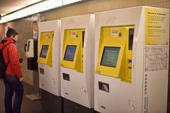 Máquinas del boleto del subterráneo de Berlín Fotos de archivo