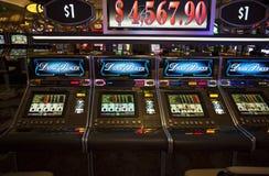 Máquinas del casino de Las Vegas Foto de archivo libre de regalías