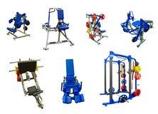 Máquinas del ejercicio del gimnasio Imágenes de archivo libres de regalías