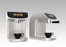 Máquinas elegantes del café con la pantalla táctil Fotografía de archivo libre de regalías