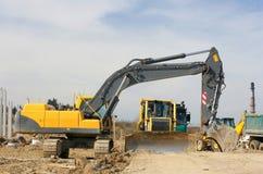 Máquinas escavadoras 1 Imagens de Stock