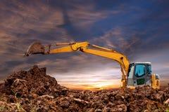 Máquinas escavadoras Fotos de Stock