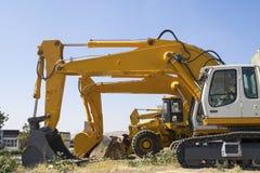 Máquinas escavadoras Imagem de Stock