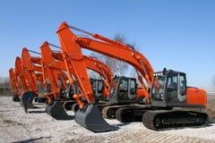 Máquinas escavadoras Foto de Stock