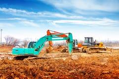 Máquinas escavadoras e escavadoras Fotos de Stock